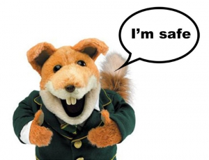 Basil Brush - I'm safe.
