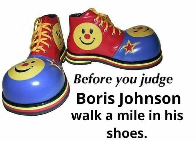 Boris Johnson the clown.