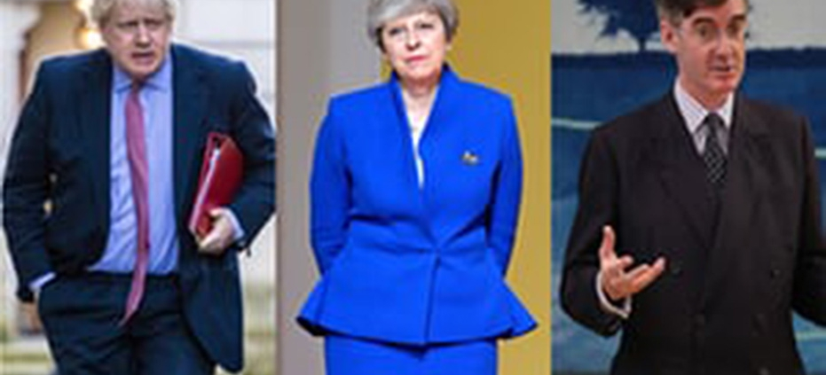 Boris Johnson, Theresa May and Jacob Rees-Mogg.