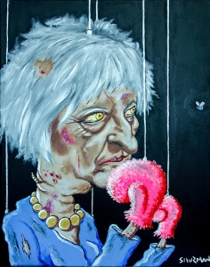 Theresa May by Spitting Image artist Michael Shurman