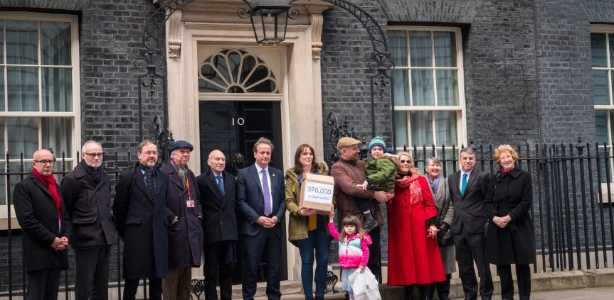 Alfie Dingley outside No 10 Downing Street.