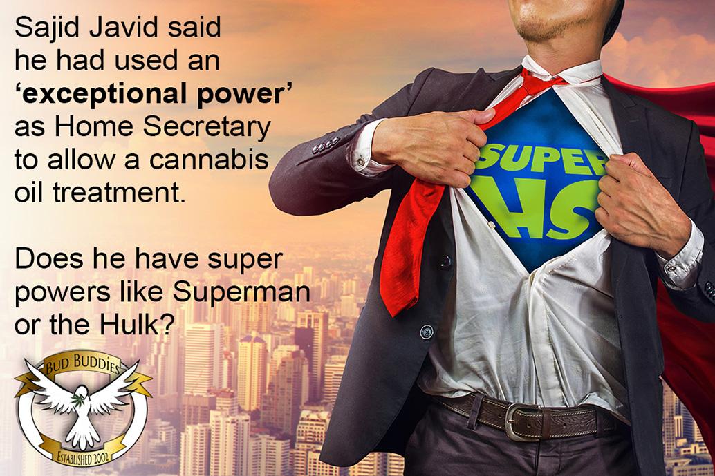 Sajid Javid on cannabis legalisation.