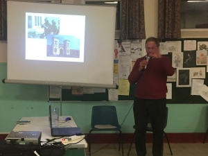 Dr Jon Orell speakingat a community meeting on Tuesday entitled The War on Drugs has Failed in central Weymouth, Dorset, UK.