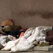Photo of homeless drug users in Weymouth, Dorset.