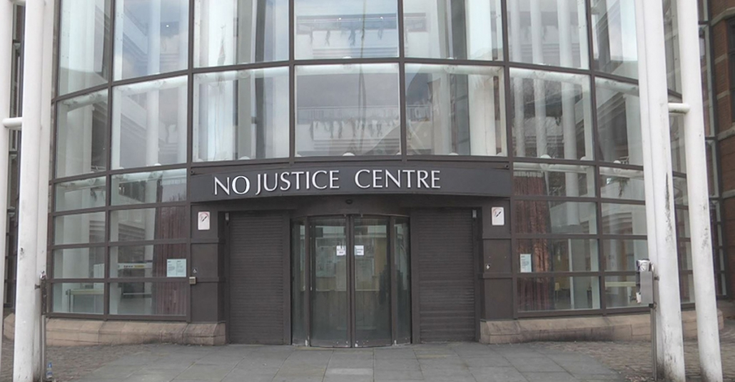 Photo of Nottingham Magistrates Court with where presiding Magistrate, Roger Speakman, sits.