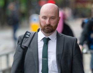 Photo of paedophile policeman, Peter McIlduff who was spared prison by Judge Paul Lawton.