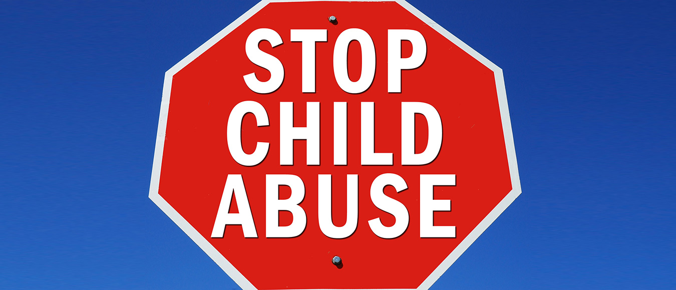 Stop child abuse sign.