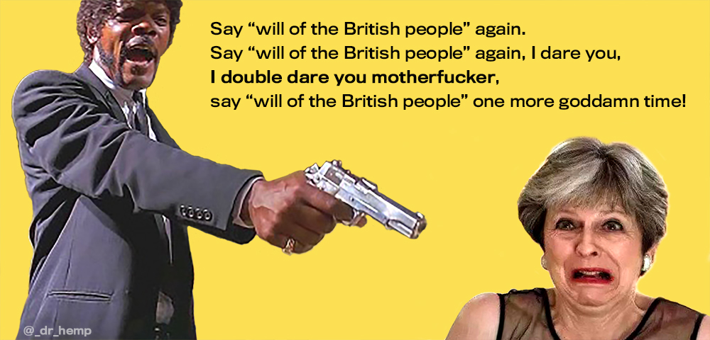 I double dare you Theresa May and Samual L