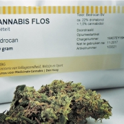 Herbal Bedrocan cannabis from The Netherlands.