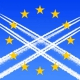 EU flag with chemtrails.