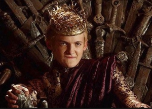 King Joffrey on the Iron Throne