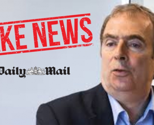 Peter Hitchens author of fake news in the Daily Mail.