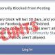 30 day Facebook ban