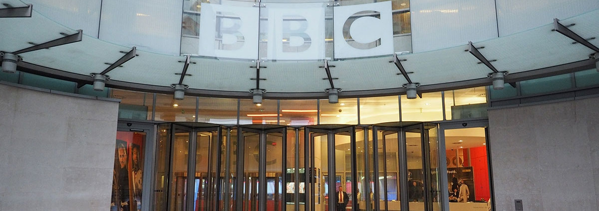 Headquarters of the BBC who have been heavily criticised for entrapment to get a teenager to obtain cannabis.