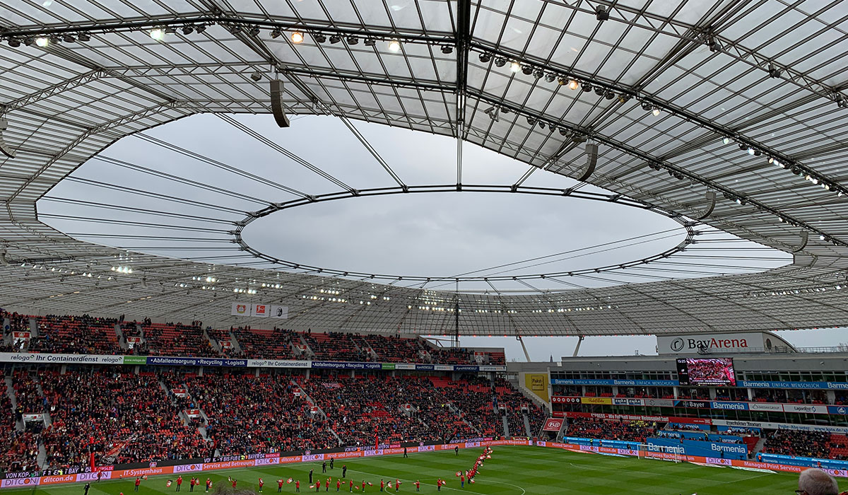 Bayer Leverkusen football stadium.