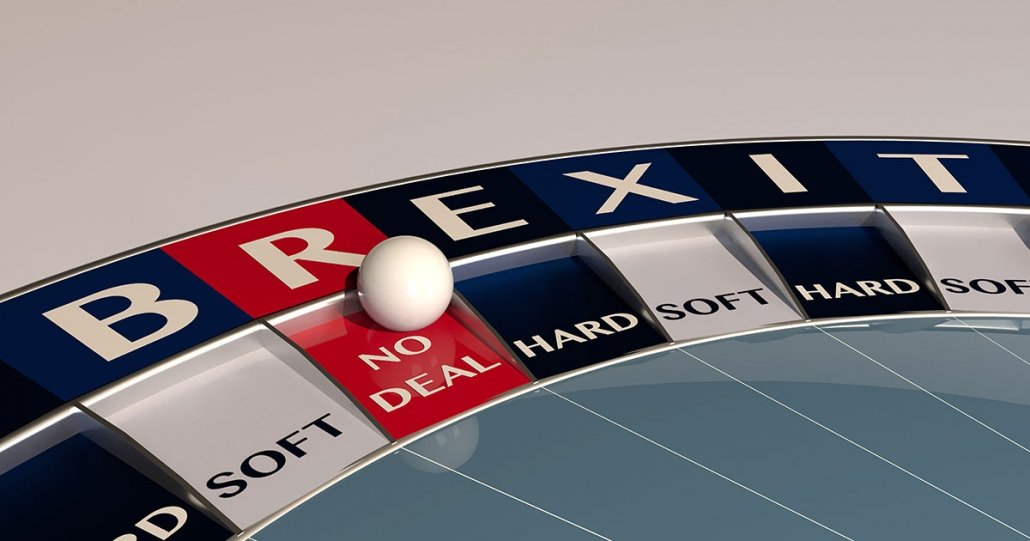 Brexit no deal roulette wheel.