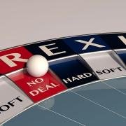 Brexit no deal roulette wheel.