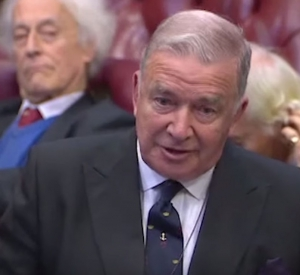 Lord Alan West of Spithead claims in the House of Lords that terrorists are cannabis users.