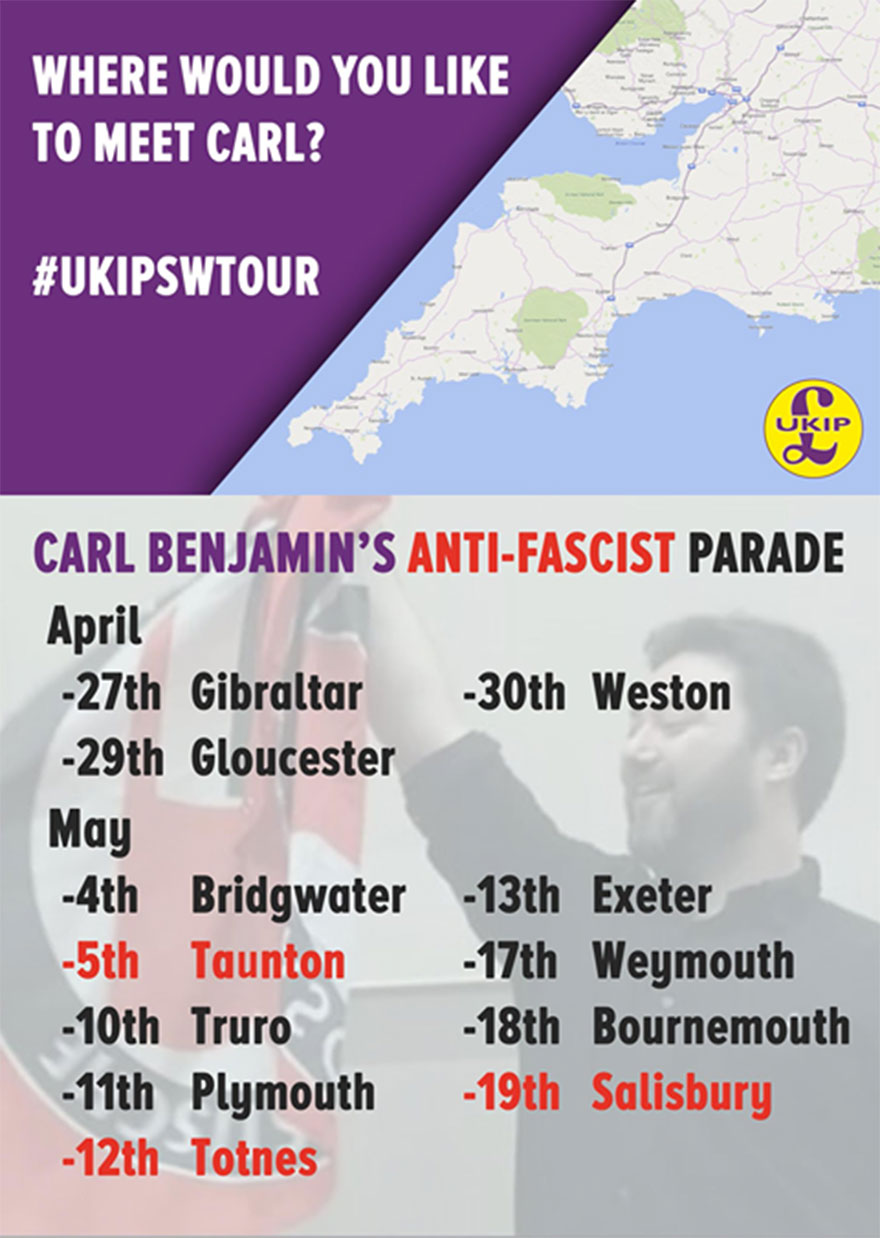 Carl Benjamin's anti-fascist parade.