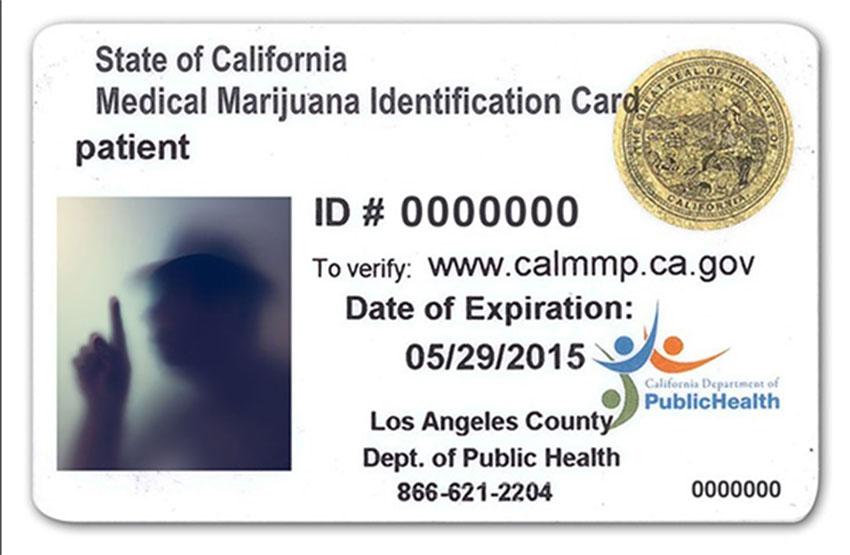 State of California Medical Marijuana Identification Card
