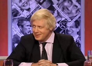 Boris Johnson admitting to taking cocaine on the BBC's satirical news quiz, Have I Got News For You.