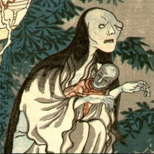 Japanese Demon painting from 14th century that looks like Ann Widdecombe.