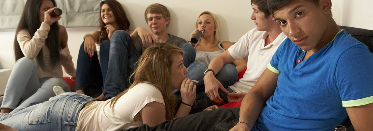 Teens drinking and smoking Facebook share image