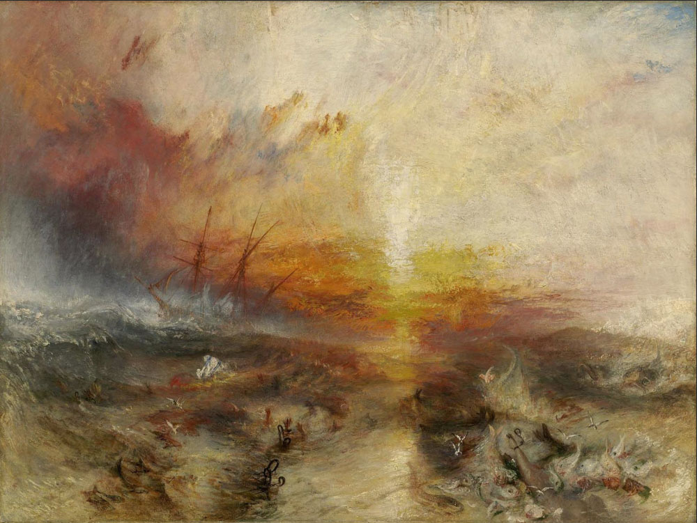 The Slave Ship by British artist, J.M.W. Turner.