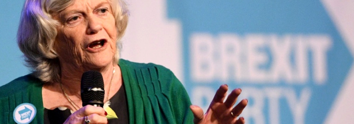 Ann Widdecombe MEP from the Brexit Partyi who is under fire for making regular appearances on a radio show that promotes Holocaust denial.
