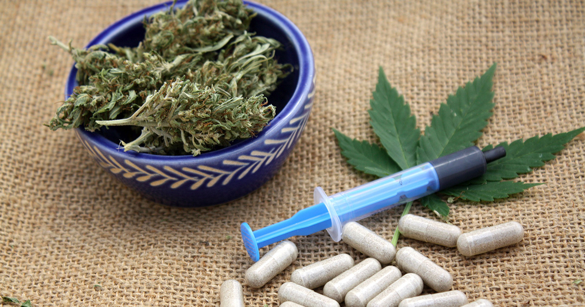 Cannabis-based medicinal products (CBMPs) and pharmaceutical pills.