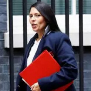 Cannabis hating, homophobic death penalty supporting UK Home Secretary, Priti Patel.