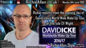 Richie Allen poster promoting David Icke tour.