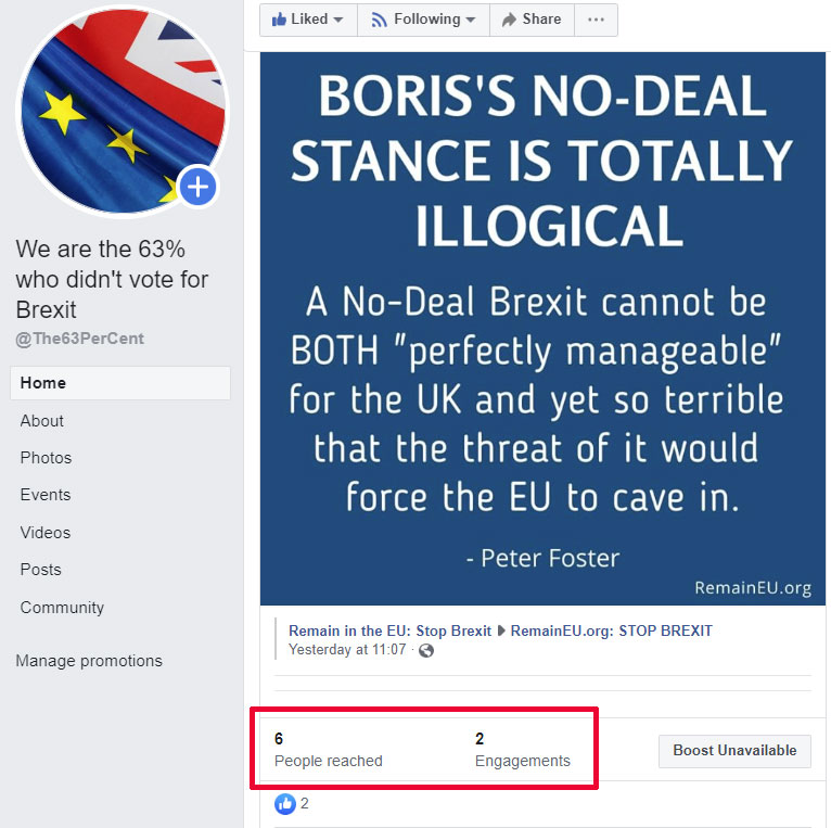 Meme: Boris's No Deal stance is totally illogical.