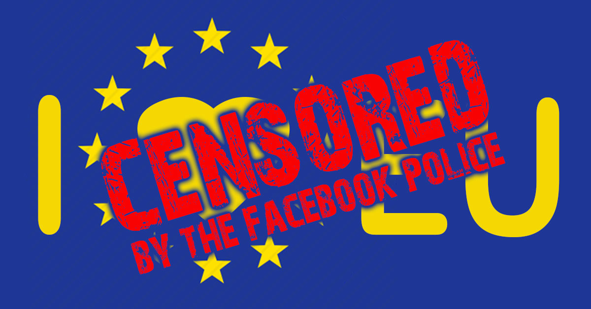 Censored by the Facebook Police.