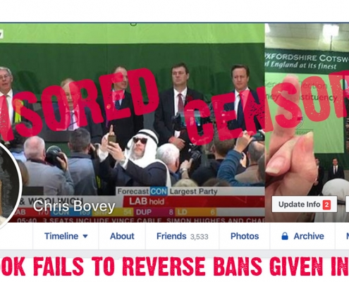 Anti-Brexit activist, Chris Bovey, censored by Facebook for his liberal pro-EU views.