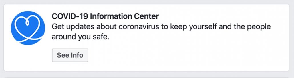 Facebook COVID-19 Information Center