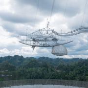 Spherical reflector radio telescope, Arecibo, Puerto Rico.