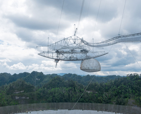 Spherical reflector radio telescope, Arecibo, Puerto Rico.